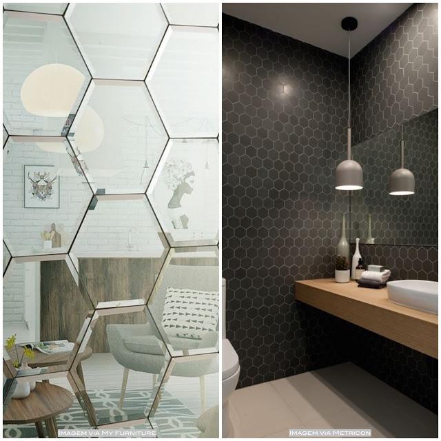 revestimento hexagonal para parede