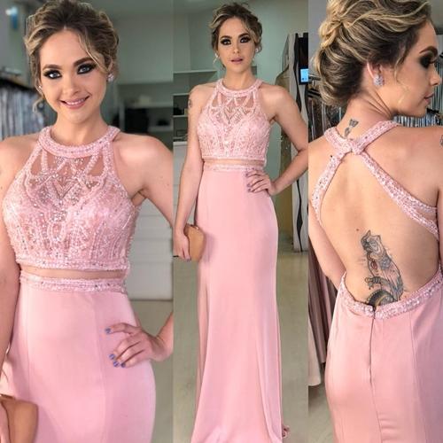 vestido rosa madrinha