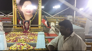 Parthiban's Prayer at Jayalalitha's Memorial Place !