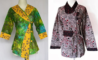 model baju batik atasan wanita gemuk modern