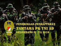 Penerimaan Tamtama TNI AD 2016 Gel II