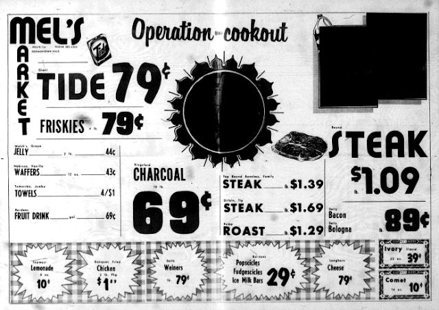 Mel's Market Ad from Summer '73, Metamora Herald