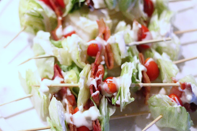 BLT salad wedge skewers - Harvest Night with doTERRA essential oils