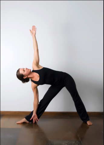 singing heart yoga trikonasanatriangle pose