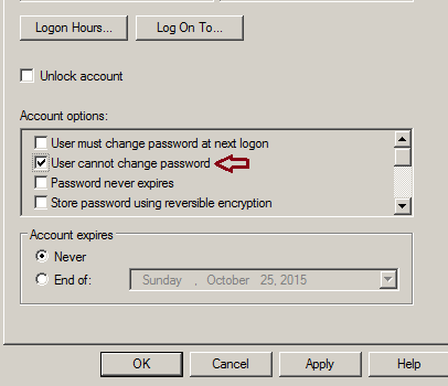 Change AD Password Exception has been thrown by the target of an invocation - Access is denied