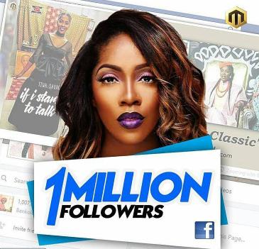 tiwa savage facebook 1 million
