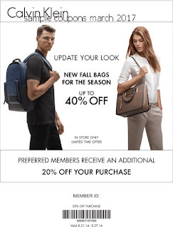 Calvin Klein coupons for march 2017