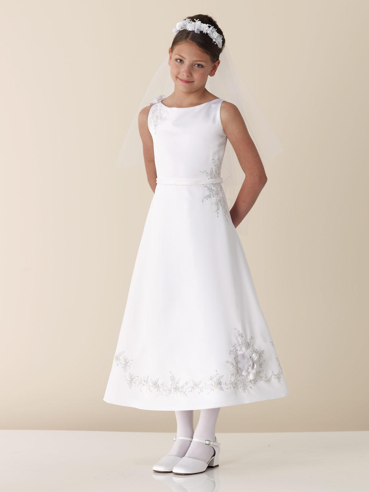 Junior Bridesmaid Shoes White