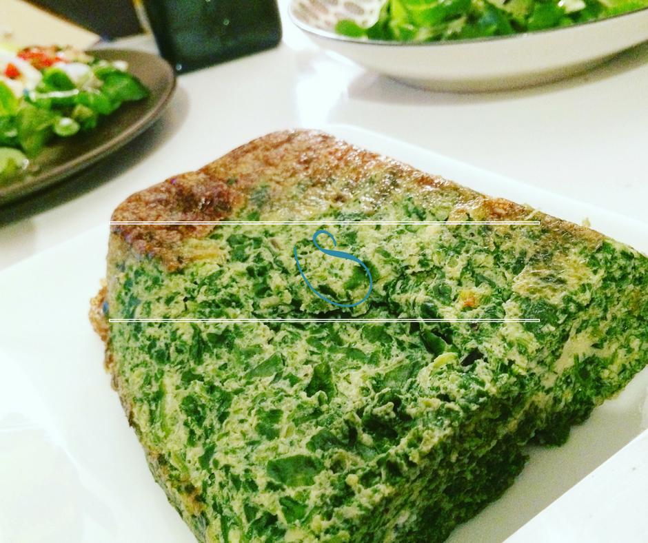 #Healthy spinach Tunisian tajine | Tajine Tunisien aux épinards | Tajine sebnekh