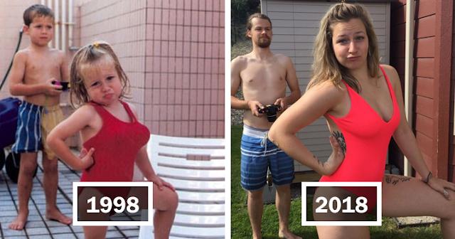 29 людей, которые идеально воссоздали свои старые семейные фотографии