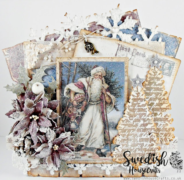 "Father Christmas ""Jultomten"" - Using Maja Design ""Vintage Frost Basics"" 