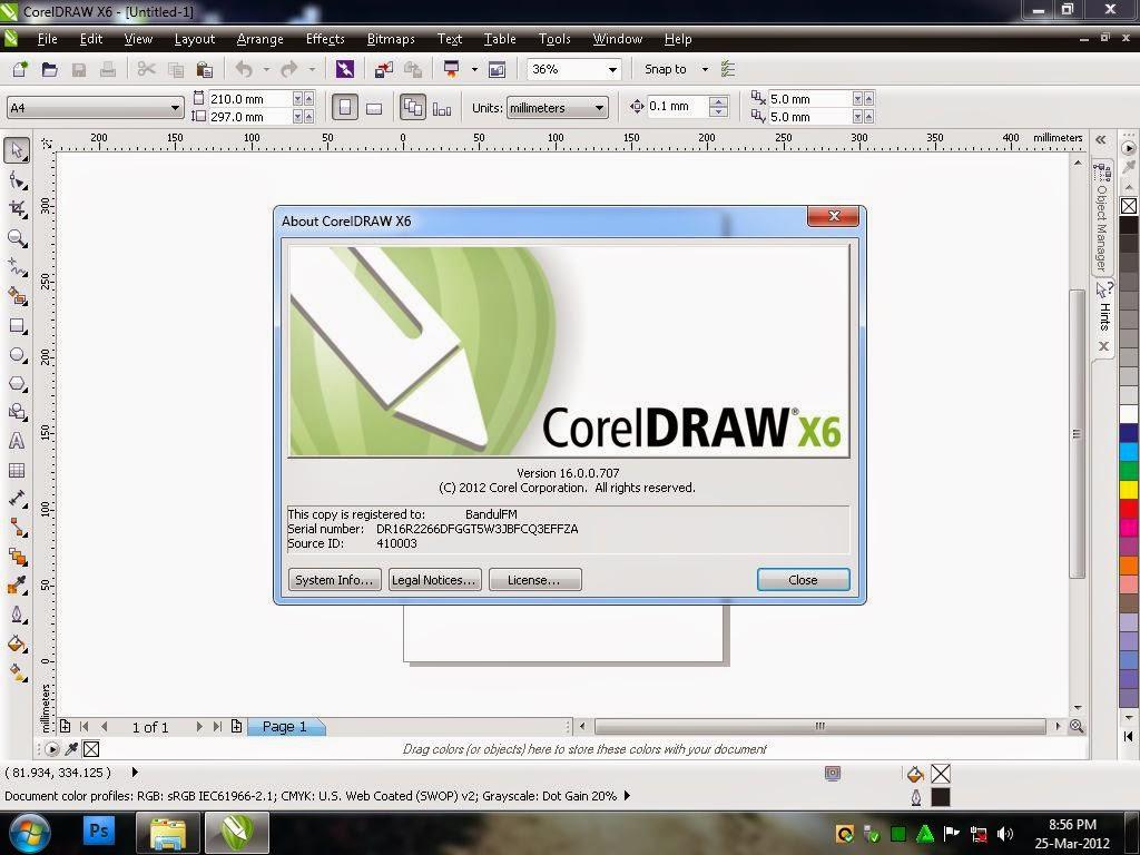 Corel Draw Graphics suite X6 Full version Gratis