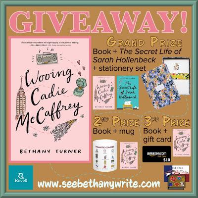 Wooing Cadie McCaffrey giveaway graphic