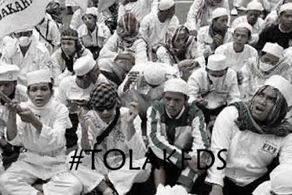 Ribuan Santri Bolos Demi Aksi  Tolak FDS