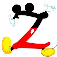 Original alfabeto inspirado en Mickey Mouse Z.