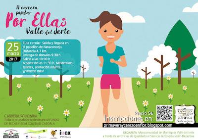 """II Carrera Popular """"Por ellas"""" Valle del Jerte (25 de marzo)"""
