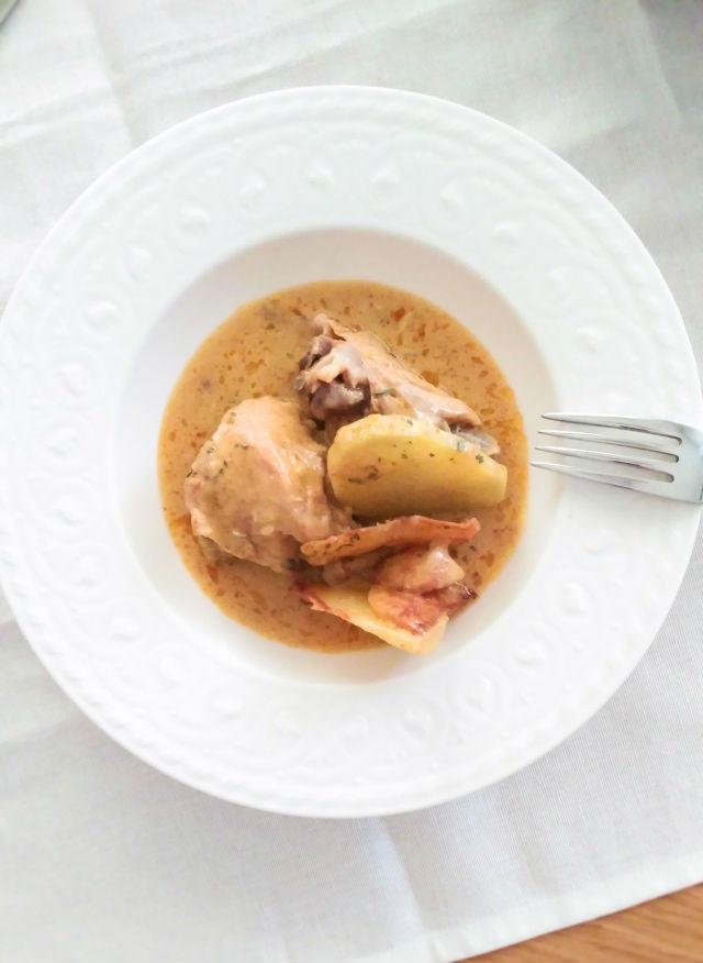 receta de pollo al vino en olla rápida o exprés