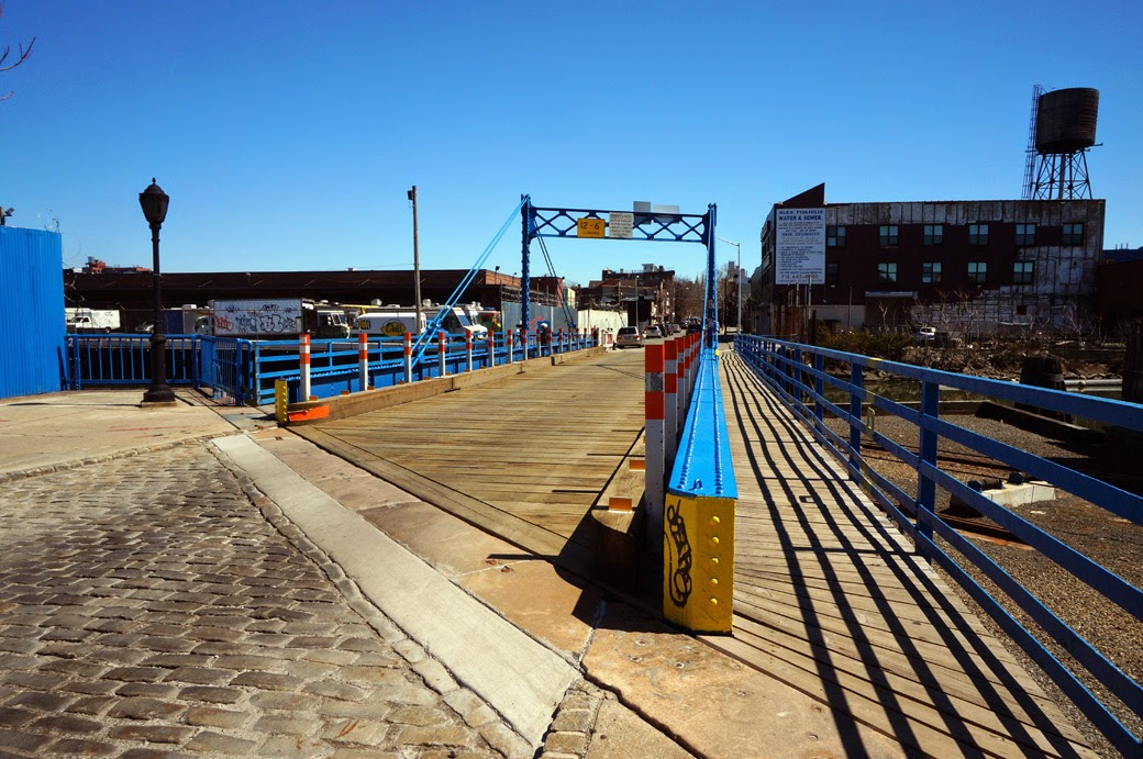 Carroll Street Bridge with Park Slope neighborhood in the background.