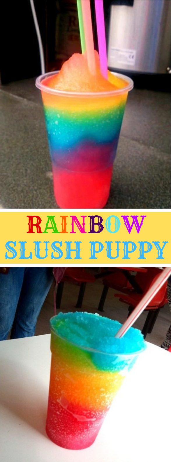 Rainbow Slush Puppy #drink #cool