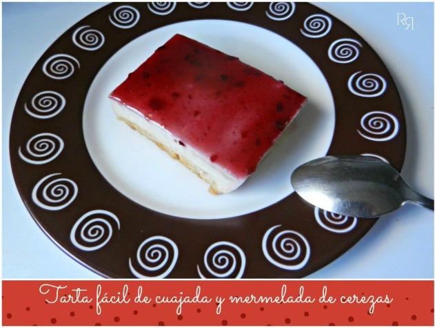 """""""Tarta de cuajada y mermelada de cerezas"""""""