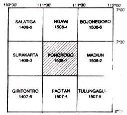 Indeks Peta Geologi Ponorogo