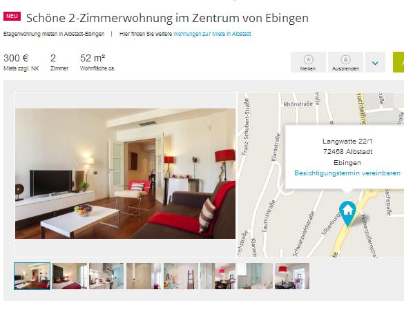 Single Wohnung Albstadt