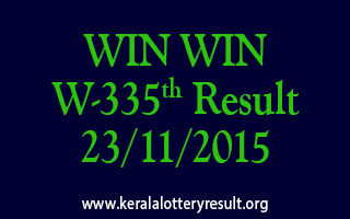 WIN WIN W 335 Lottery Result 23-11-2015