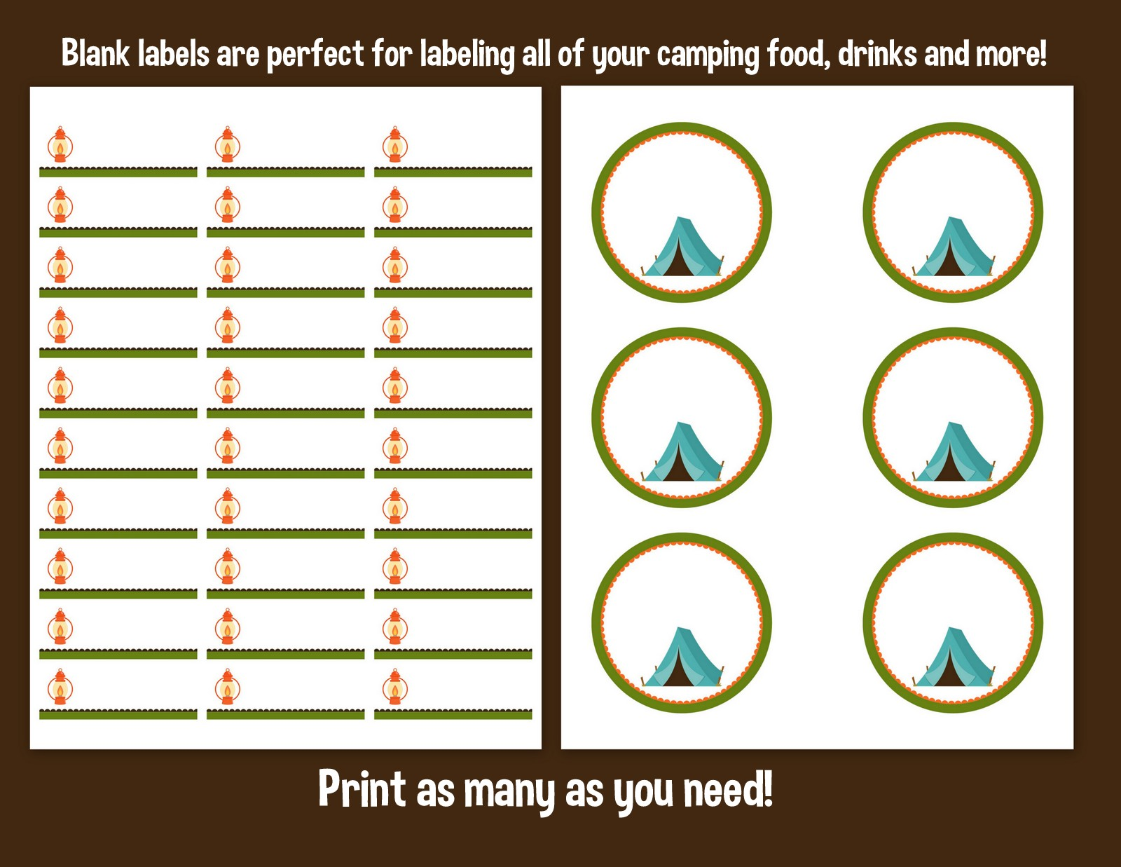 Sweet Mady Printable Let S Go Camping