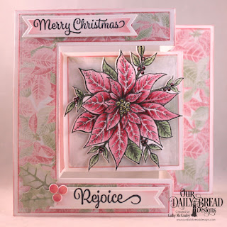 Our Daily Bread Designs Stamp/Die Duos: Merry Christmas, Paper Collection:Christmas 2018,  Custom Dies: Tri-Fold Card With Layers, Christmas Bells, Pennant Flags