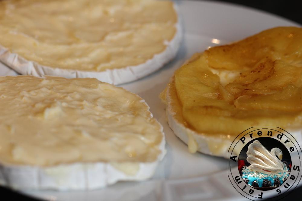 Mille-feuille de camembert aux pommes (pas à pas en photos)