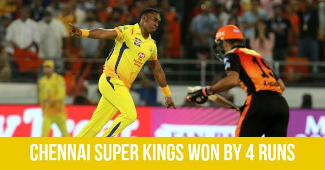 Chennai Super Kings won by 4 Runs