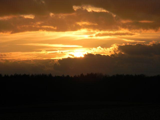 zachody słońca, pomarańczowy, zmierzch, ciemno