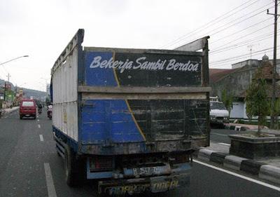 kata mutiara dari supir truk