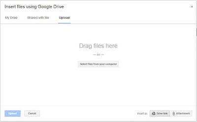 google drive as attachment
