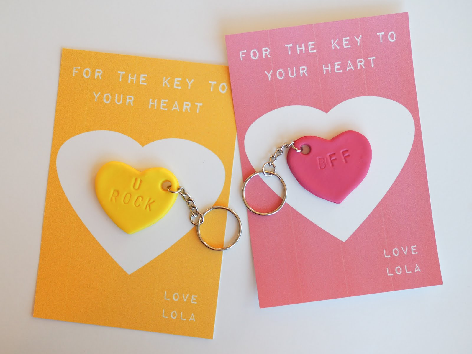 Candy Heart Keychains