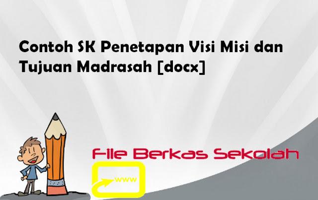 Contoh SK Penetapan Visi Misi dan Tujuan Madrasah [docx]