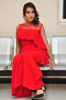 Sonia Chowdary Pictures in Red Dress at Lover Boy Audio Launch | ~ Bollywood and South Indian Cinema Actress Exclusive Picture Galleries