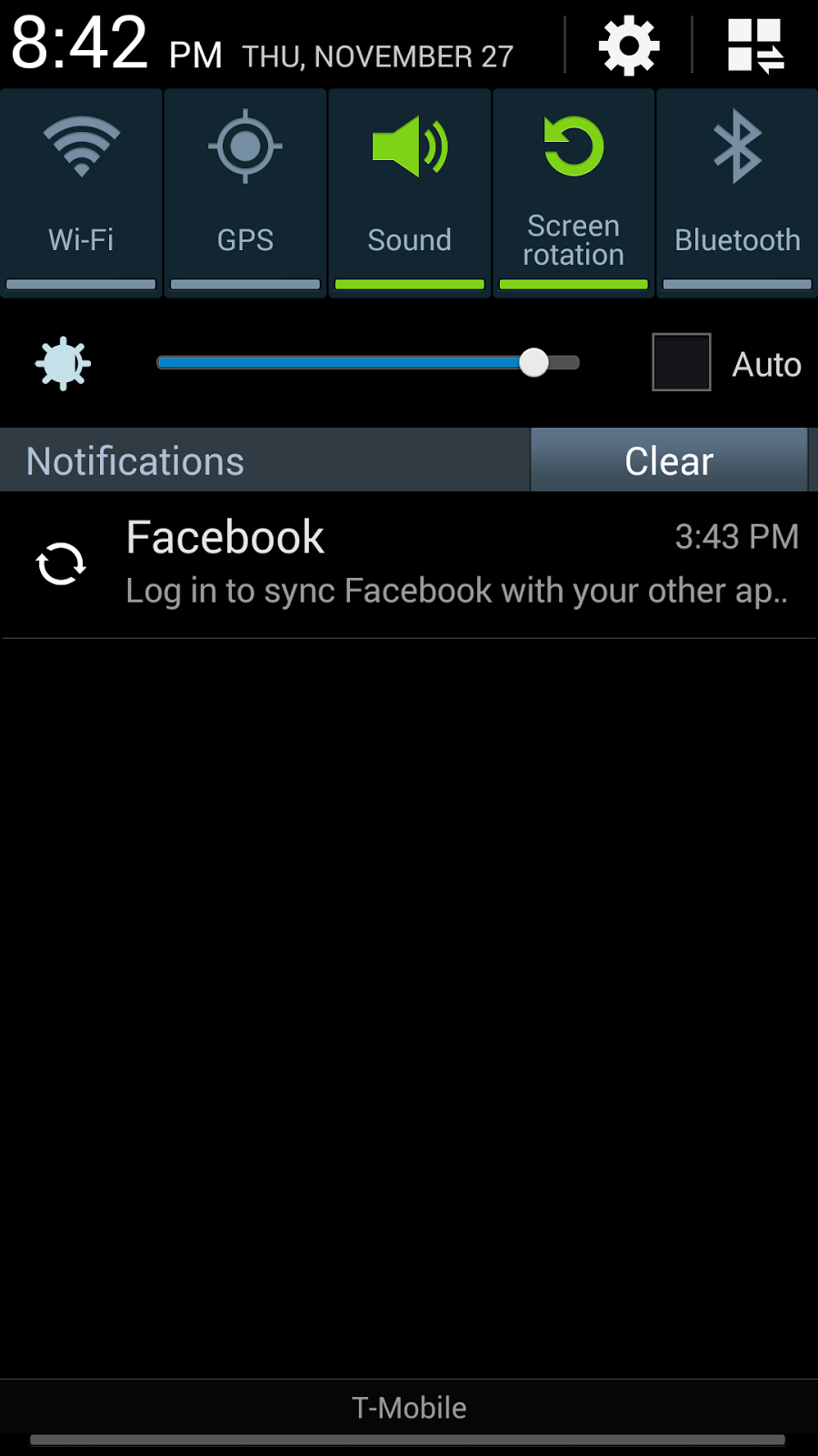 Adam's Edge: Annoying 'Log in to sync Facebook' Android