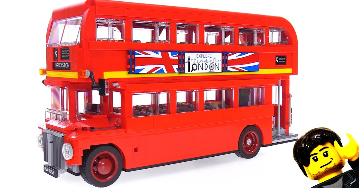 lego creator london bus speed build review videos 10258. Black Bedroom Furniture Sets. Home Design Ideas