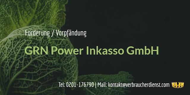 Beitragsbild: GRN Power Inkasso GmbH – Forderung und Vorpfändung
