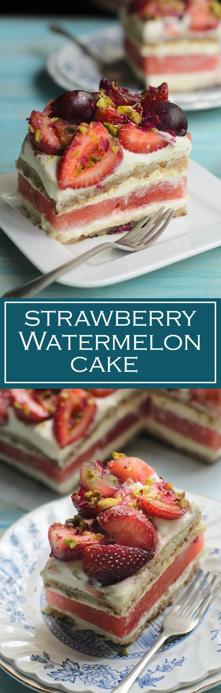 Sydney's Black Star Pastry best ever Watermelon and Strawberry Cake. Heavenly taste of rosewater cream, delicious strawberry and watermelon cake.