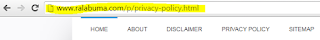 URL Privacy Policy