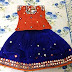 Blue and Orange Lehenga