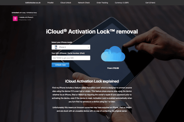 Remove Icloud Activation Lock Form Cellunlocker Latest