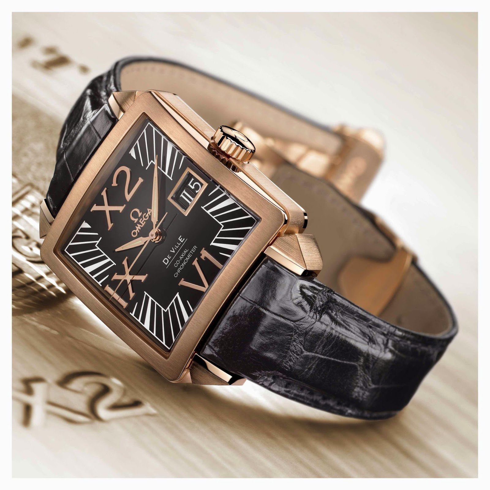 Omega De Ville X2 Big Date Co-Axial chronometer, Red Gold