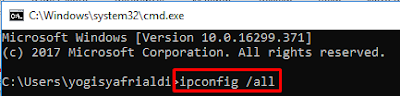 Ping ke IP Default Gateway