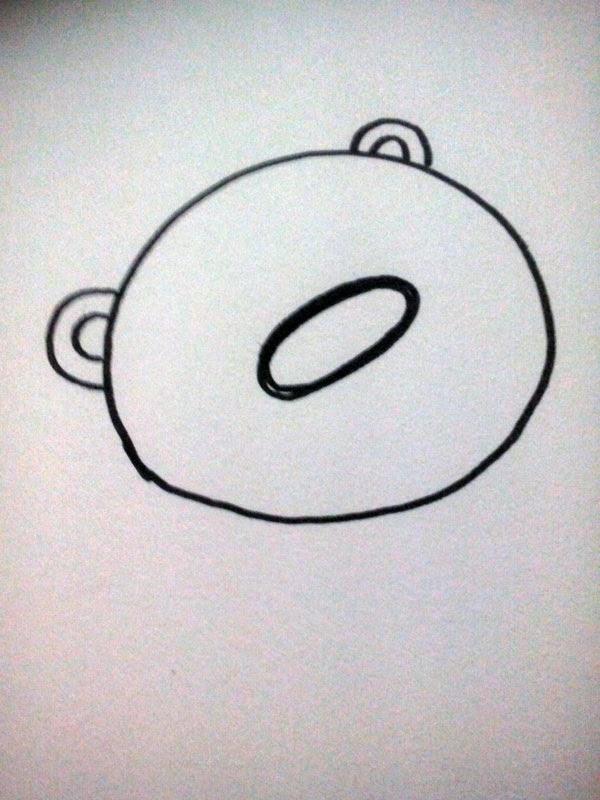 tutorial diy dibujar un oso con círculos