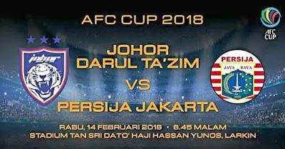 Live Streaming JDT FC vs Persija Jakarta AFC Cup 2018 14 Februari 2018