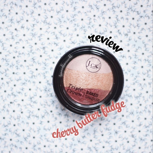 Jcat Beauty Triple Crown Baked Shadow - Cherry Butter Fudge Review (Bahasa Indonesia)