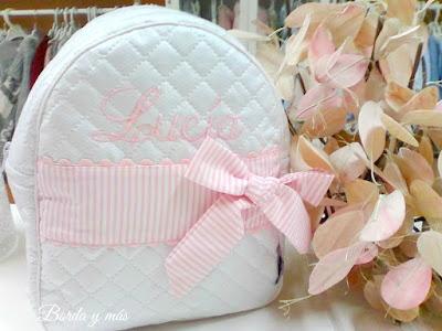 mochila guarderia rosa
